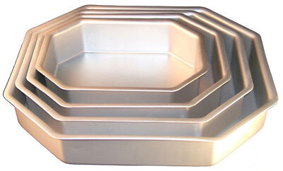 Fat Daddio's Anodized Aluminum Corner Cut Cake Pan, 2 Inch
