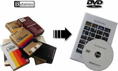Transfer convert Betamax (NTSC/PAL/SECAM) Beta video tape to DVD or MP4