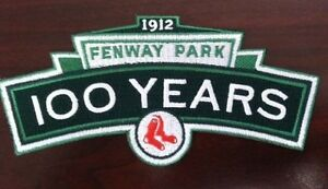 Red Sox 2012 Fenway Park 100th anniversary  patch 5.5