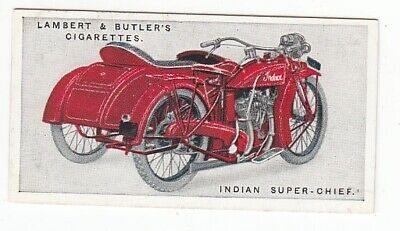 Vintage 1923 Motorcycle Card of the SUPER INDIAN CHIEF