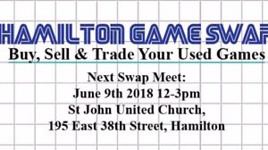 Hamilton Game Swap June 9th 2018