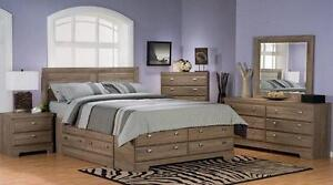 LORD SELKIRK FURNITURE - 10 PC MILANO KING STORAGE BEDROOM SUITE IN GLAD BIRCH