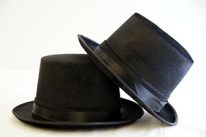 Victorian-Edwardian-REGENCY-Fancy-Dress-Dance-Theatre-BLACK-TOP-HAT-1-SIZE