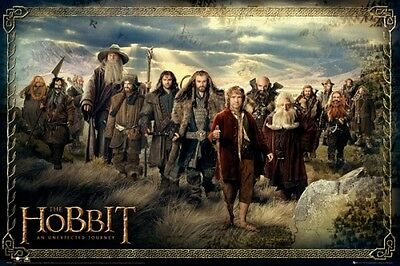 LORD OF THE RINGS THE HOBBIT CAST OF CHARACTERS POSTER NEW 22x34 FREE SHIPPING