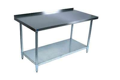 30 x 72 Restaurant Stainless Steel Food Work Prep Table with 2