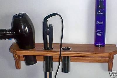 3-hole Hair Blow Dryer, Curling Iron, Flat Iron Holder Shelve
