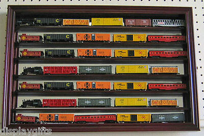 N  Z Gauge Scale Model Train Display Case Wall Cabinet  Mirror Back  Hwt08m