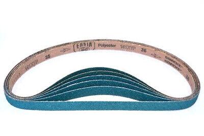 1 x 42 Inch Ceramic 36 Grit Super Saver Sanding Belts 5 Belt Pack