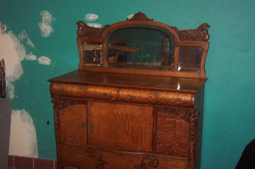 Antique Tiger Oak Buffet Ebay