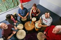 Drum circle in Amherst NS!