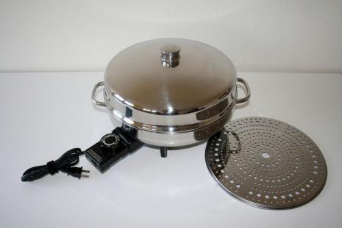 Stainless Steel Electric Fry Pan Farberware Ebay