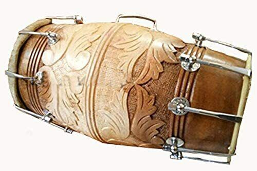 New fest Sale Brown Sheesham Wood Professional Dhol/Dholak/Dholki with Carry Bag