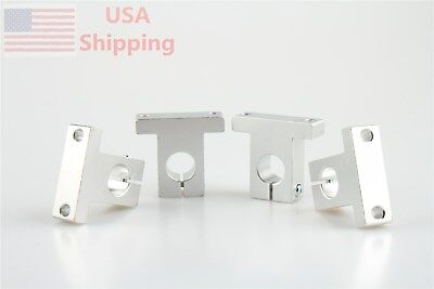 4pcs For Xyz Cnc Table Sk16 16mm Linear Rail Shaft Clamping Guide Support
