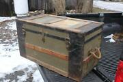 Antique Stagecoach Trunk
