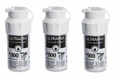 3 Bottles Ultrapak Dental Gingival Retraction Knitted Cord Size 000 Ultradent