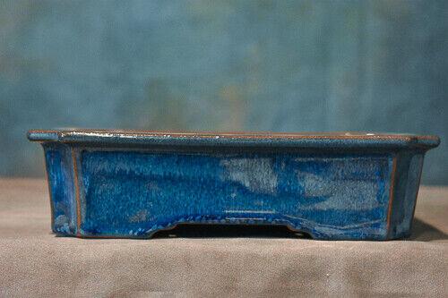 "High Quality  Chinese Bonsai Pot -  CERAMIC BLUE GLAZED POT 7 1/2"" x 5 5/8"""