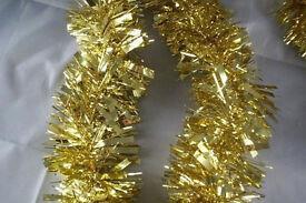 Shiny Gold Chunky Cut Decorative Tinsel 10cm x 2Mtr
