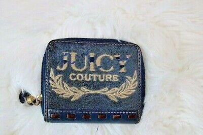 JUICY COUTURE BLUE SUEDE JUICY PRINCESS MAD MONEY Wallet