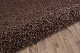 Super soft brown shaggy rug
