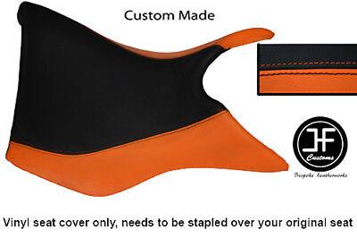 BLACK AND ORANGE VINYL CUSTOM FOR TRIUMPH TIGER 800 FRONT RIDER SEAT C
