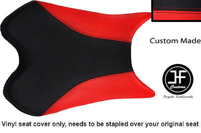 BLACK AND RED VINYL CUSTOM FITS <em>YAMAHA</em> 1000 YZF R1 FRONT SEAT COVER 09