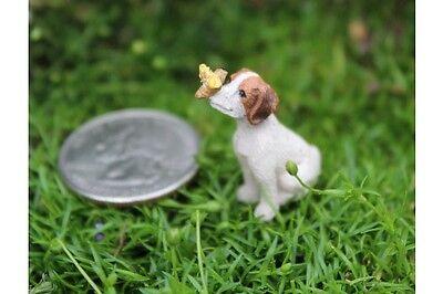 Miniature Dollhouse FAIRY GARDEN ~ Micro Mini Beau the Puppy ~ NEW