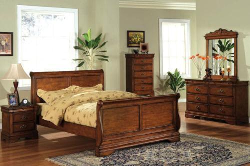Oak Queen Bedroom Set EBay
