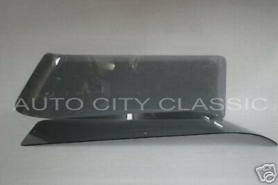 55 56 57 Chevrolet Pontiac 4 Door Wagon Grey Rear Curved Quarter Glasses Pair