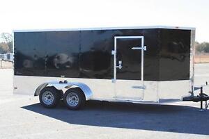 NEW 7x16 7 x 16 V-Nose Enclosed Cargo Motorcycle Trailer Ramp Door & Side Door
