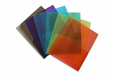 Stemsfx Clear Lightweight Plastic 2 Pocket Folder Pack Of 6 Assorted Colors...