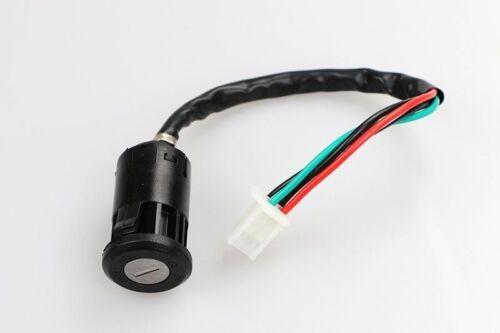 Universal Ignition Switch Key 4 Wires for Honda Yamaha Kawasaki Suzuki KTM
