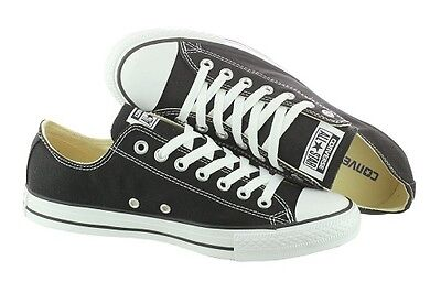 CONVERSE Unisex All Star Chuck Taylor Black Athletic Sneakers Canvas - Retro Chuck Taylors