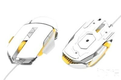 James Donkey 325S Gaming Mice USB Wired Mouse with Adjustable (325S White)