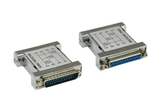 DB25 25 Pin Molded 3MOV Surge Protector Male to Female M/F RS232 Serial Parallel