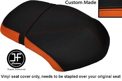 ORANGE AND BLACK VINYL CUSTOM FITS <em>YAMAHA</em> XF 50 GIGGLE DUAL SEAT COVER