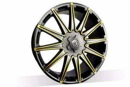 1x 20 INCH GOLD WHEEL FOR COMMODORE, FALCON,BMW3,CAMRY,AURION,
