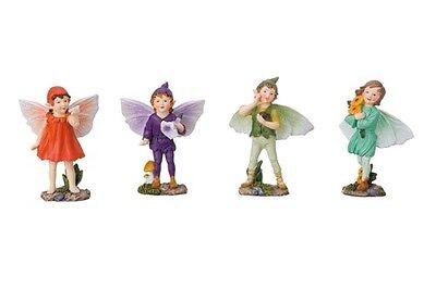 Miniature Dollhouse FAIRY GARDEN ~ Fairy Kids – Set of 4 ~ NEW