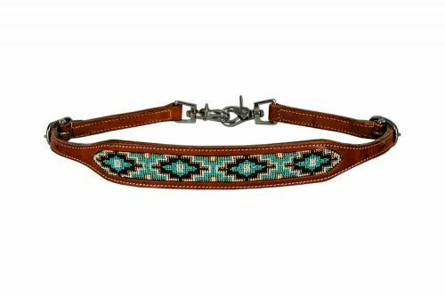 New Horse TACK! Showman Medium Leather Wither Strap w//Red /& Gold Sequins Inlay