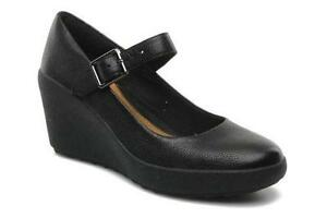 c16fd4180 Clarks Black Wedge Shoes