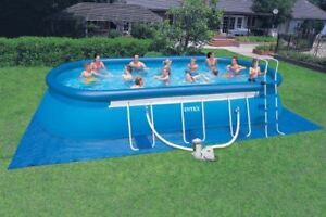 5400 Gal oval intex pool