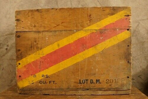WWII .50 Cal Wooden Ammo Crate Box Des Moines Ordnance Plant (Rare) US Navy