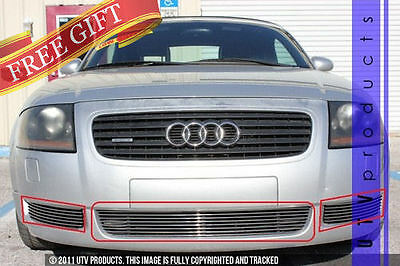 GTG 2000 - 2006 Audi TT and TT Quattro 3PC Polished Overlay Billet Grille Kit