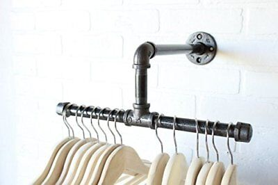 12 Urban Industrial Pipe Wall Rack - Clothing Rack Closet Organizer Retail