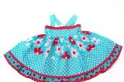 Polka Dot Dress Red White Blue
