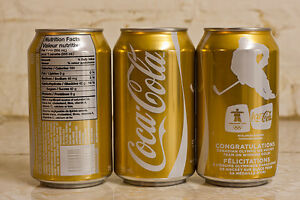 men/women's hockey 2010 Vancouver Olympics gold coke can