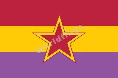 Spain Communist Party Flag 3X2FT 5X3FT 6X4FT 8X5FT 100D Polyester Banner