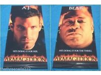 Very large Armageddon double sided cinema poster