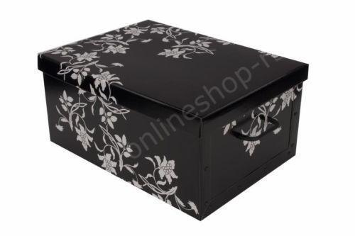 aufbewahrungsbox schwarz kunststoff ebay. Black Bedroom Furniture Sets. Home Design Ideas