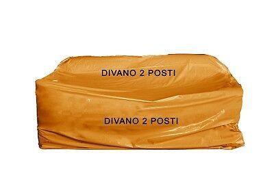 5 Sacchi copridivano nylon 2 posti x trasloco/conservare Mis. cm 175 x 290
