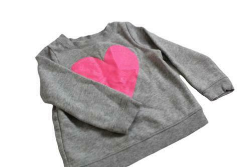 Circo Girl Size 2T Small Sweater Gray Heart Long Sleeve Pullover 009S